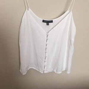 PACSUN KENDALL AND KYLIE WHITE CROPPED SHIRT